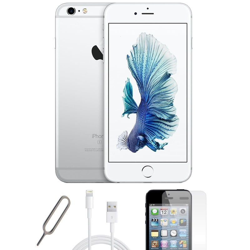 Apple iPhone 6S  White / Silver (128GB) Unlocked Pristine Condition Basic Bundle