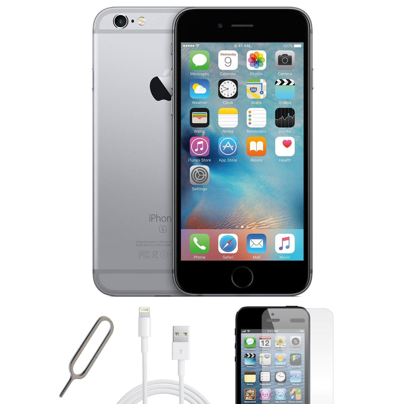 Apple iPhone 6S Plus Space Grey (128GB) Unlocked Pristine Basic Bundle