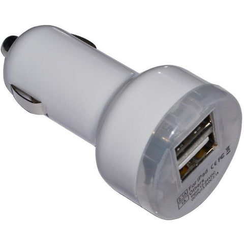 IPad Cables - Mini DC USB 2 Port Output Car Charger Adapter 12V-24V For IPad 2 3 IPhone 3G 3Gs 4 4S