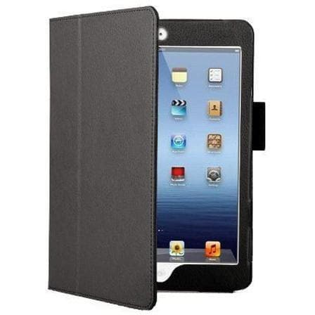Black Leather Case Stand For Ipad Mini With Magnetic Sleep Wake Function