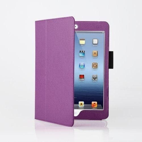 iPad Mini 1 / 2 / 3 - Flip Stand Protective Leather Case - Purple