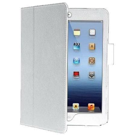 iPad Mini 1 / 2 / 3 - Flip Stand Protective Leather Case - White