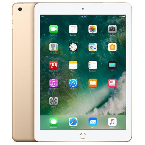 "Apple iPad 5th Generation (2017) 9.7"" - Gold - (128GB) - Wifi - Good Condition"