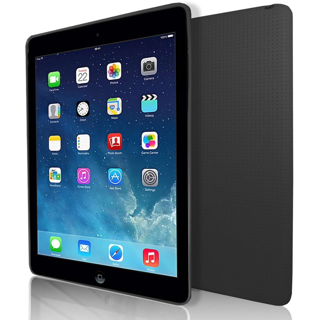 Apple iPad Air 2 Pin Hole Style Silicone Case - Black