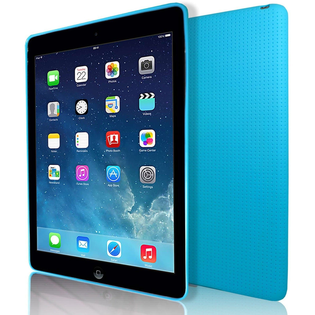 iPad Air 2 - Pin Hole Style Silicone Gel Case Cover - Blue