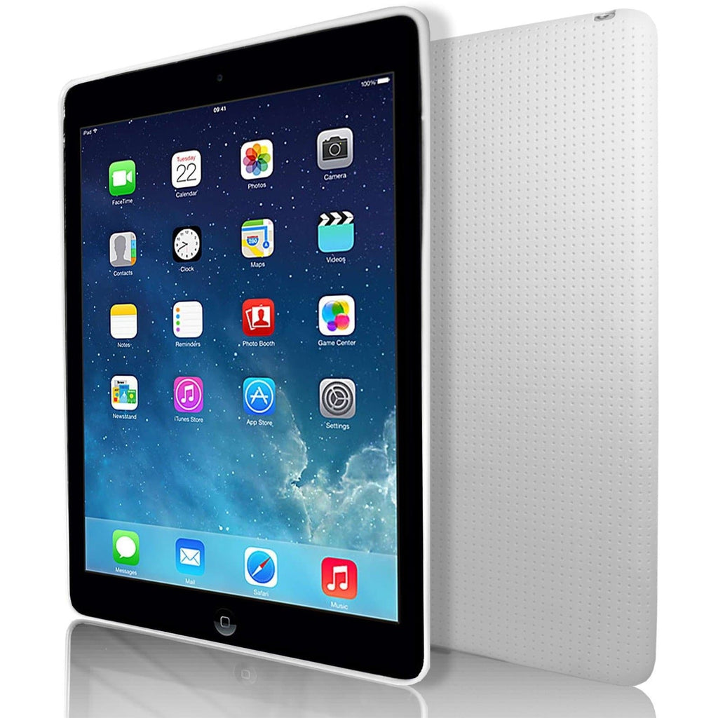 iPad Air 2 - Pin Hole Style Silicone Gel Case Cover - White