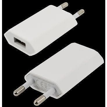 IPhone Cables - Genuine Apple Iphone A1300 Travel Eu Europe Plug Usb Port Ce Marked 2 Pin