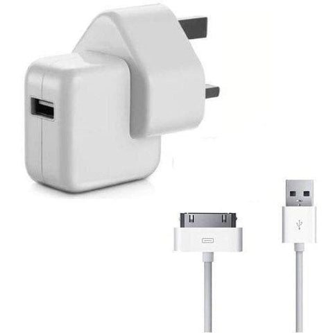 IPhone Cables - Genuine Apple UK Wall Charger With USB For IPhone 4 / 4S