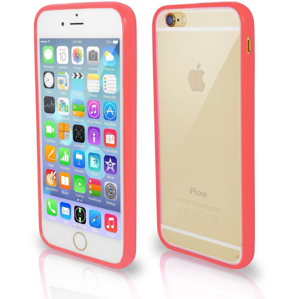 iPhone 5 / 5S / SE - Bumper Clear Back Silicone Case - Coral
