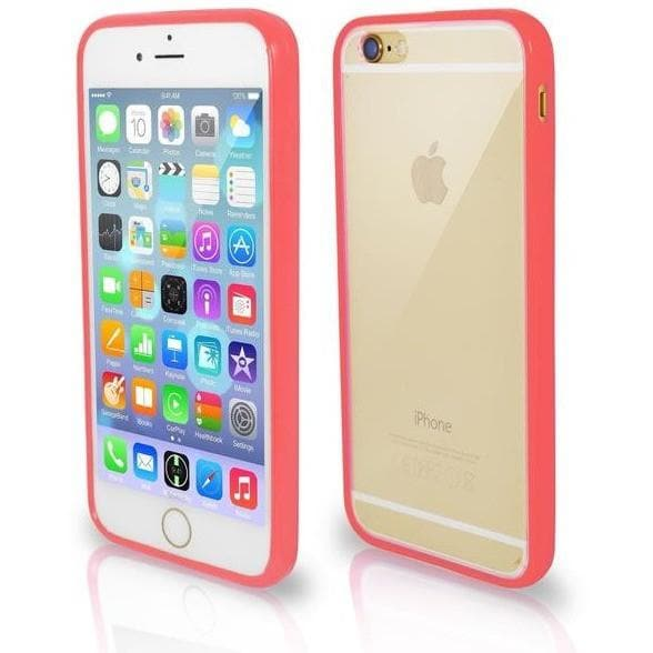 iPhone 6 / 6S Plus Bumper Clear Back Silicone Case - Coral