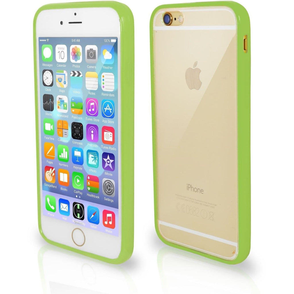 iPhone 5 / 5S / SE - Bumper Clear Back Silicone Case - Bright Green