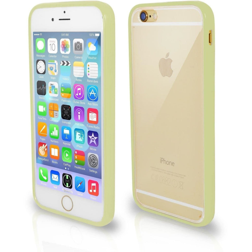iPhone 5 / 5S / SE - Bumper Clear Back Silicone Case - Olive Green