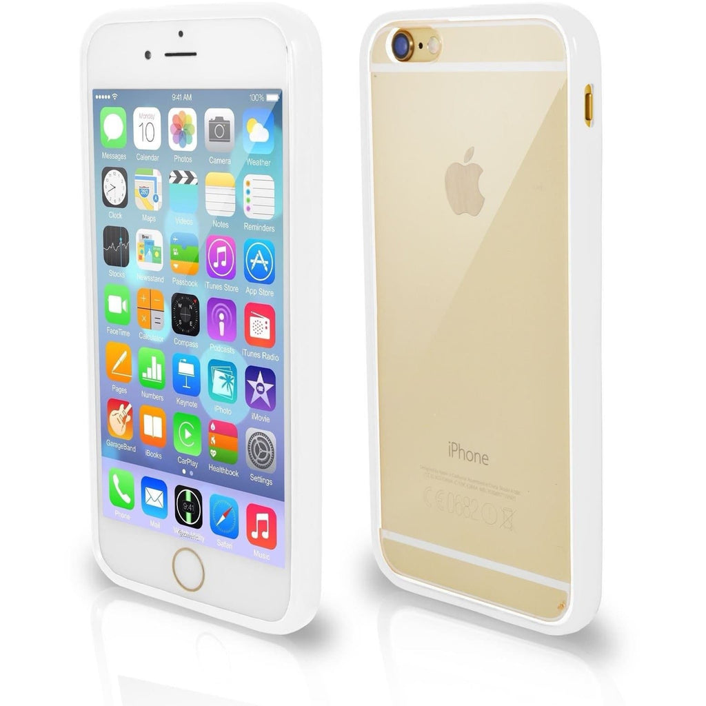 Apple iPhone 5 / 5S / SE Bumper Clear Back Silicone Case - White