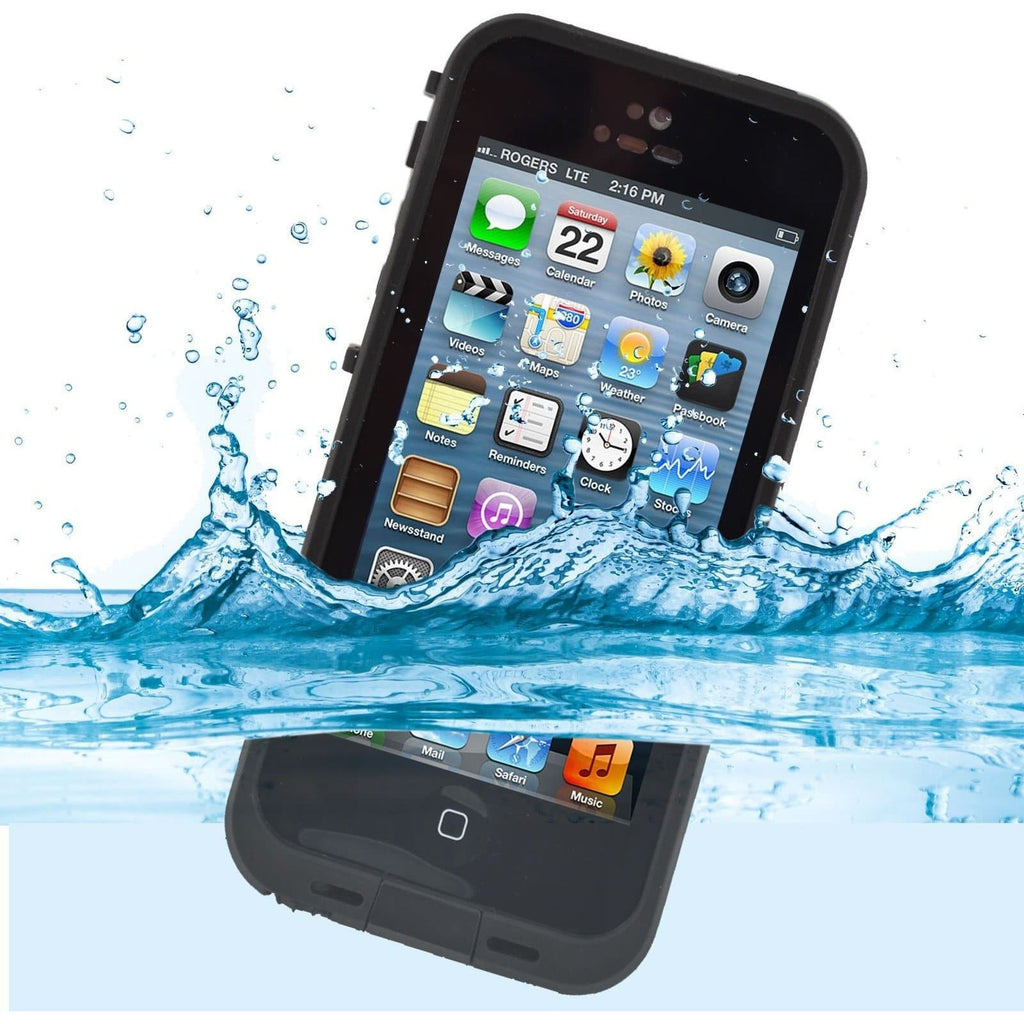 IPhone Cases - Apple IPhone 5/5S Waterproof Dirt Resistant Case - Black