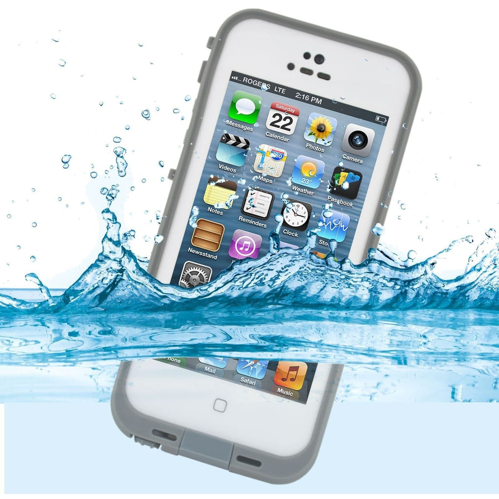 IPhone Cases - Apple IPhone 5/5S Waterproof Dirt Resistant Case - White