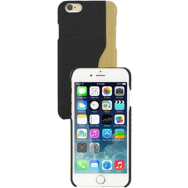 iPhone 6 / 6S Two Tone Fabric Case - Black