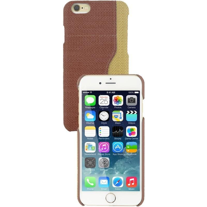 iPhone 6 / 6S Two Tone Fabric Case - Brown