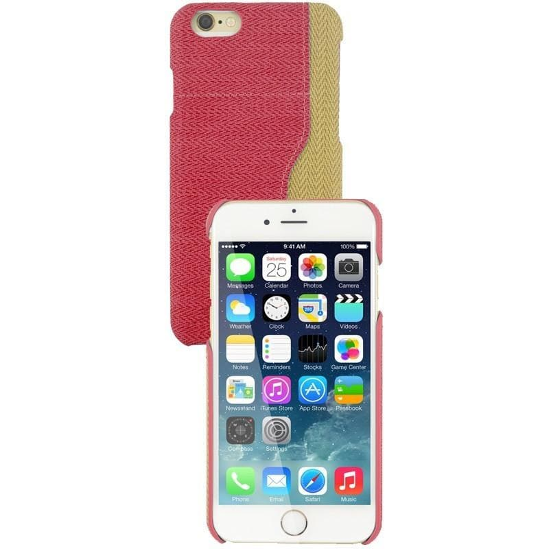 iPhone 6 / 6S Two Tone Fabric Case - Pink