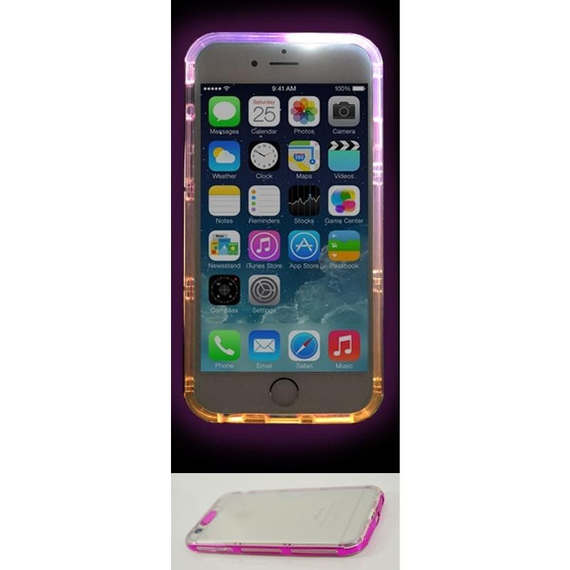 iPhone 6 / 6S Luxury Selfie Light Up Case - Pink
