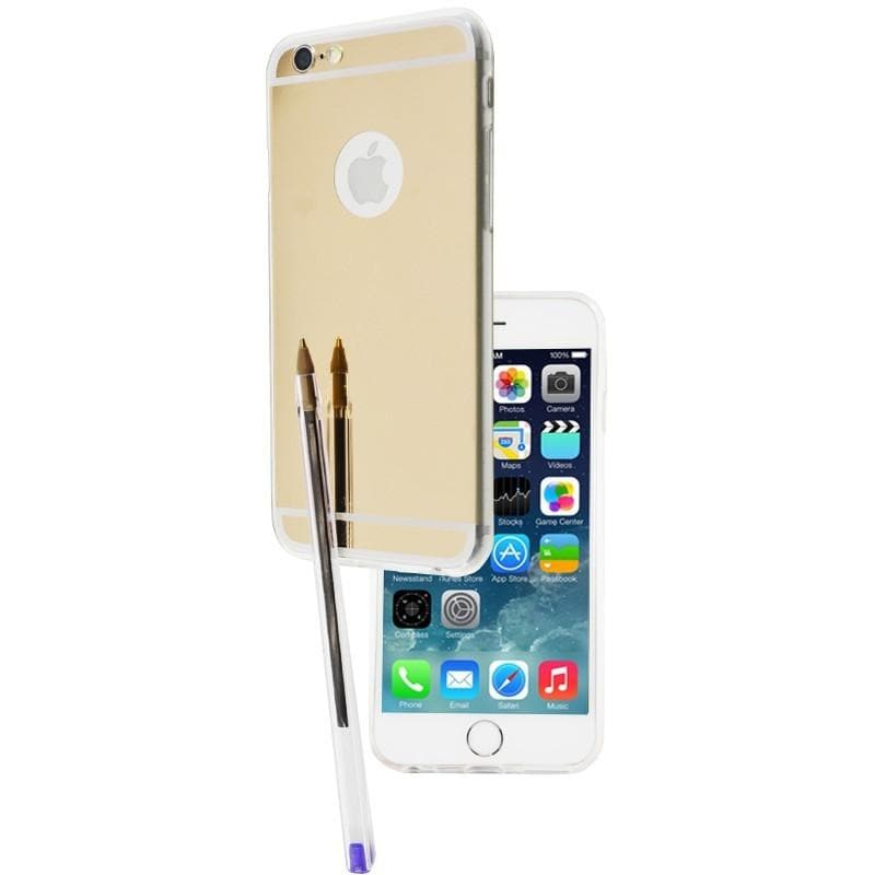 iPhone 6 / 6S Luxury Ultra Thin Aluminum Mirror Case - Light Gold