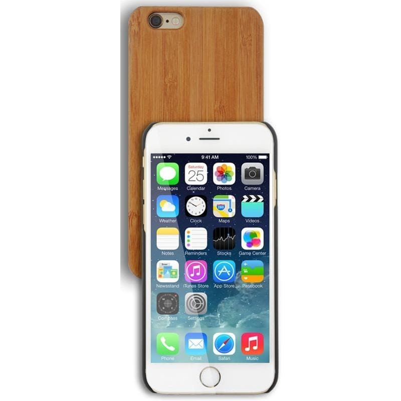 Apple iPhone 6/6S Luxury Wooden Case - Medium Wood