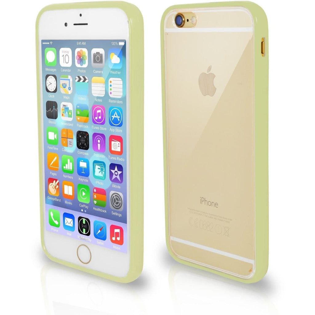 iPhone 6 / 6S Plus Bumper Clear Back Silicone Case - Olive