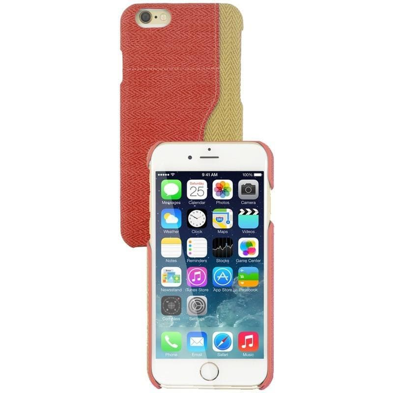 iPhone 6 Plus / 6S Plus Two Tone Fabric Case - Red