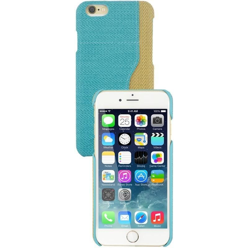 iPhone 6 Plus / 6S Plus Two Tone Fabric Case - Teal/Blue