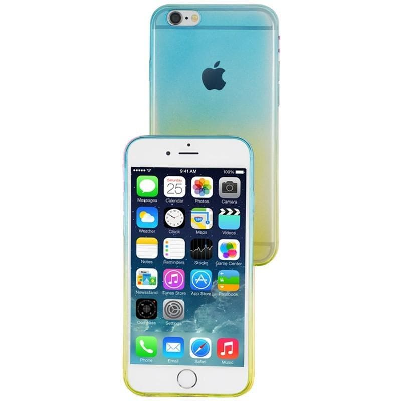 iPhone 6 Plus / 6S Plus Luxury Slim Fit Fade Case - Blue / Yellow
