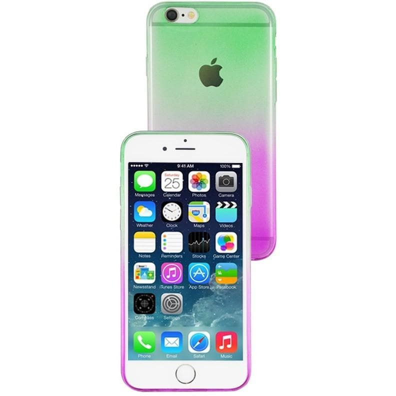 iPhone 6 Plus / 6S Plus Luxury Slim Fit Fade Case -Green / Pink