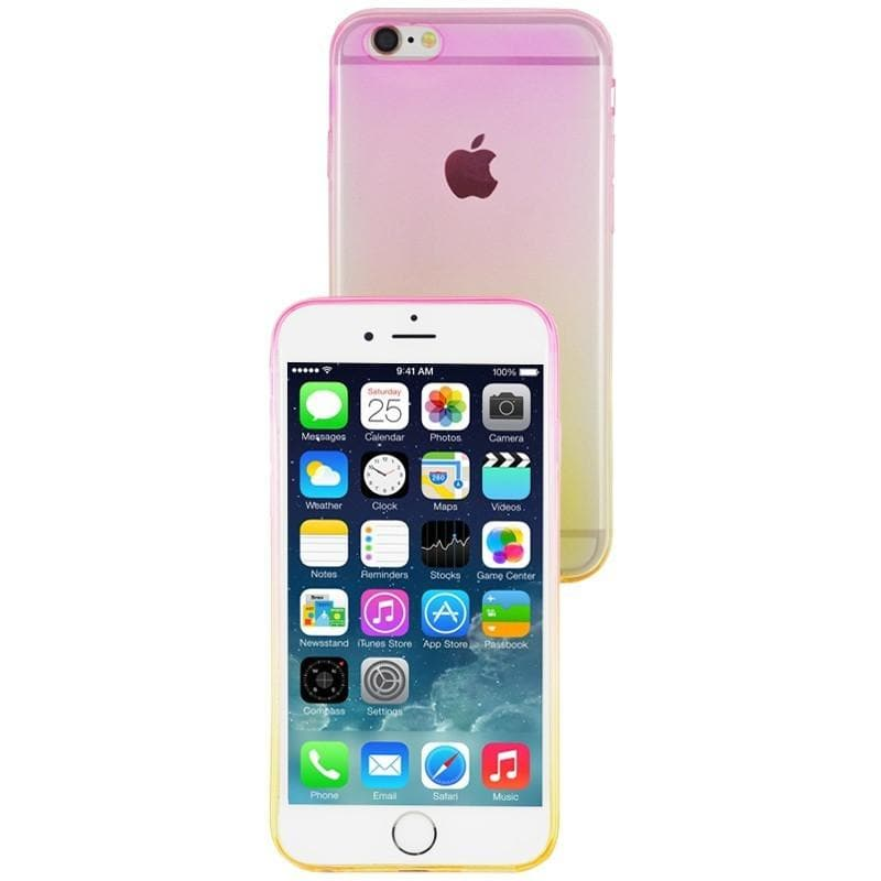 iPhone 6 Plus / 6S Plus Luxury Slim Fit Fade Case - Pink / Yellow Subtle