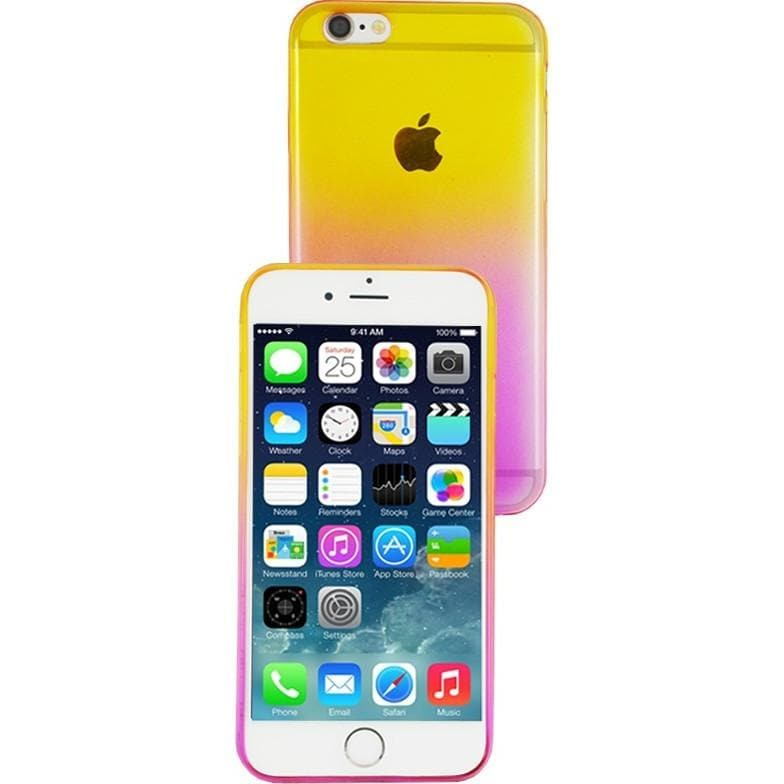 iPhone 6 Plus / 6S Plus Luxury Slim Fit Fade Case - Pink / Yellow