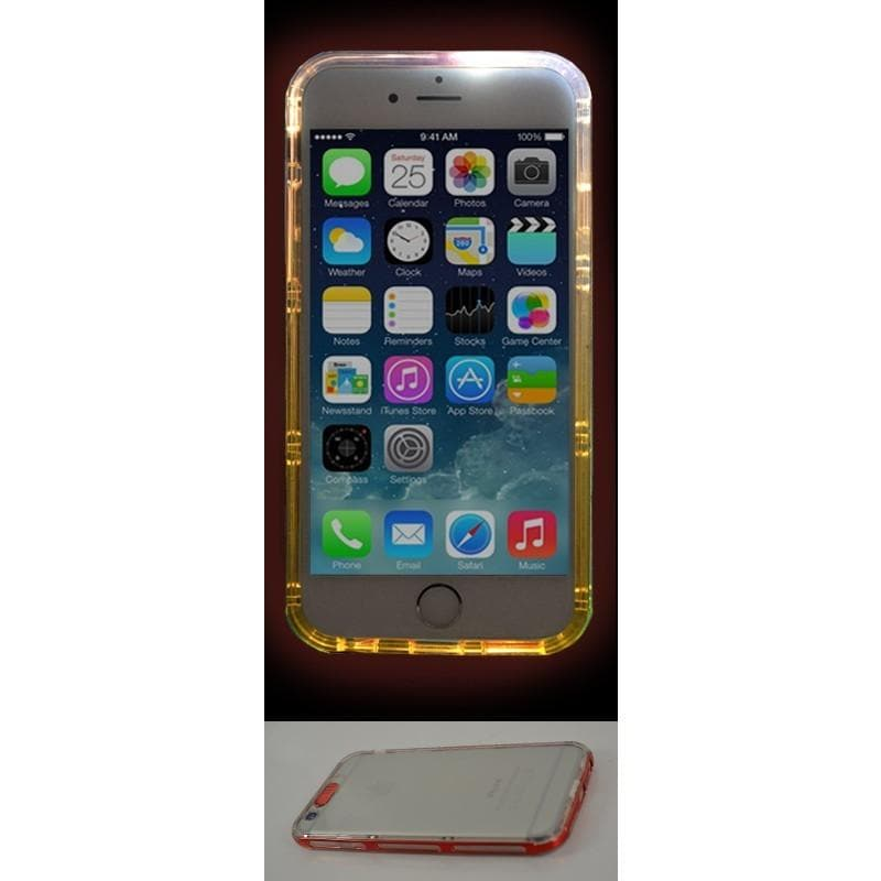 iPhone 6 Plus / 6S Plus Luxury Selfie Light Up Case - Red