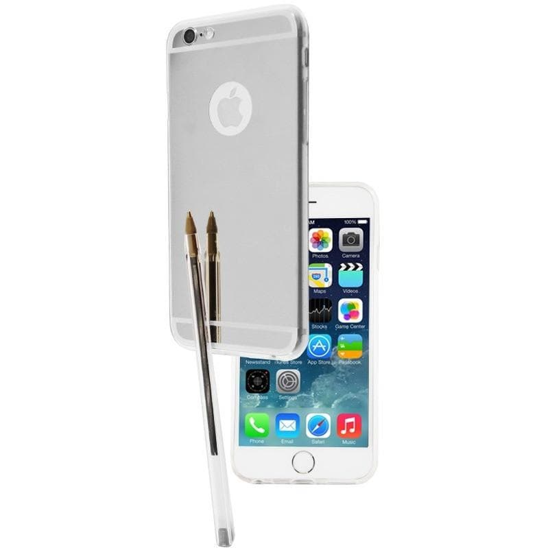 Apple iPhone 6 Plus/6S Plus Luxury Mirror Case - Silver