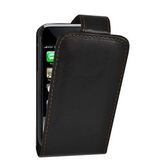 iPhone 3GS - Black - Flip Leather Case
