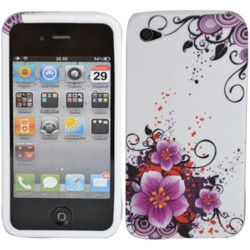 iPhone 4/4S - Floral Gel Silicone Case