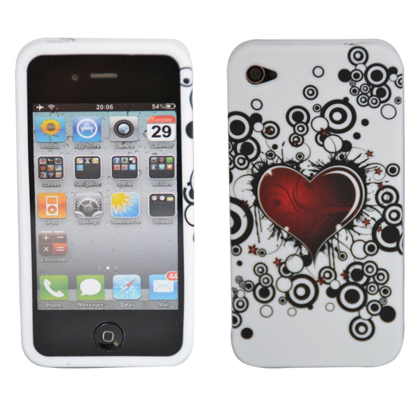 IPhone Cases - IPhone 4/4S - Heart Gel Silicone Case