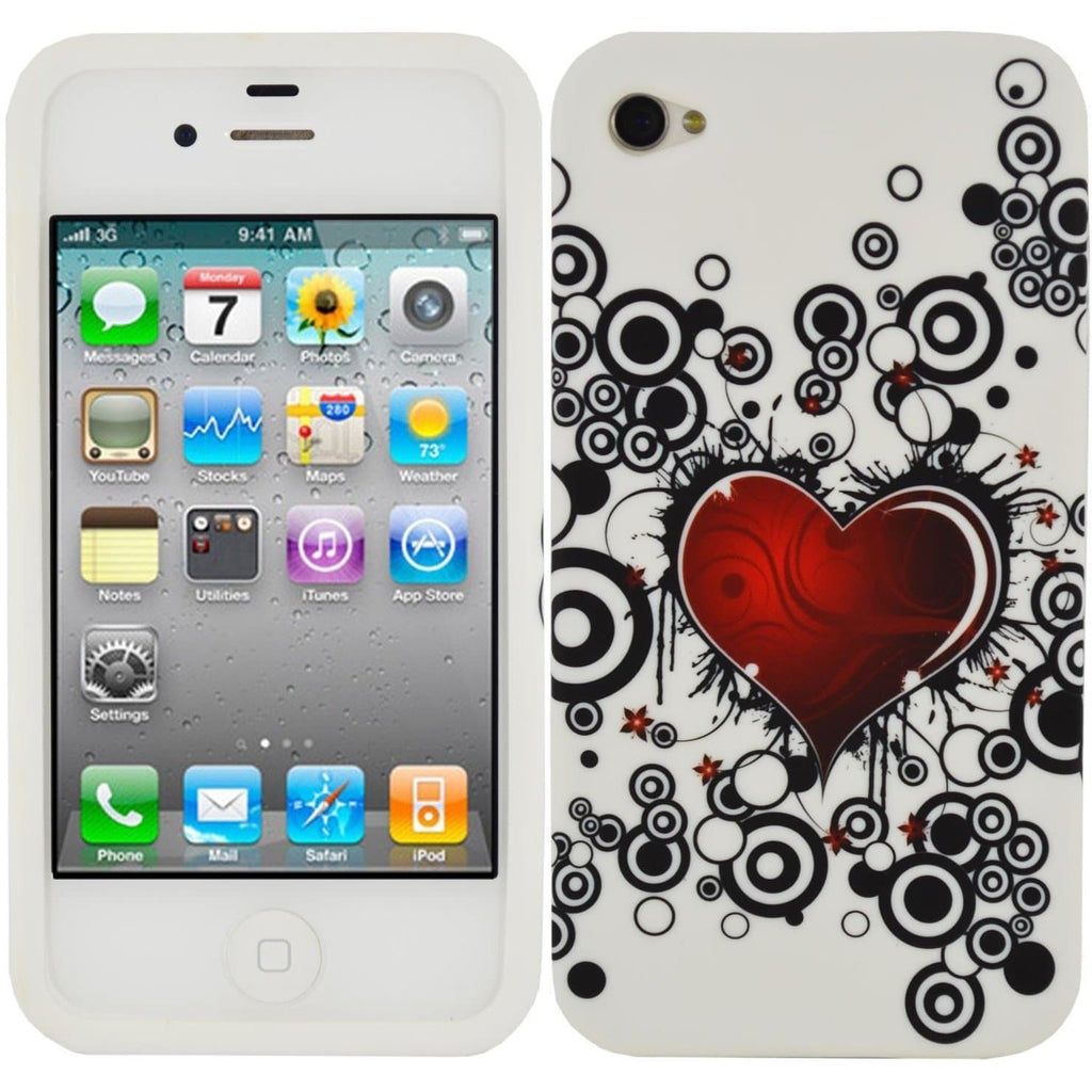 iPhone 4/4S - Hearts Silicone Case