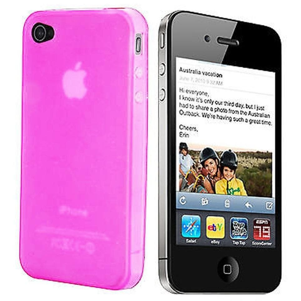 IPhone Cases - IPhone 4/4S - Pink Gloss Gel Silicone Case