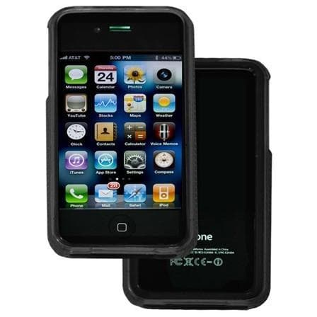 iPhone 4 / 4S - Bumper Soft Rubber Silicone Case - Black