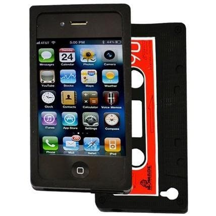 iPhone 4 - Black - Retro Cassette Silicone Case