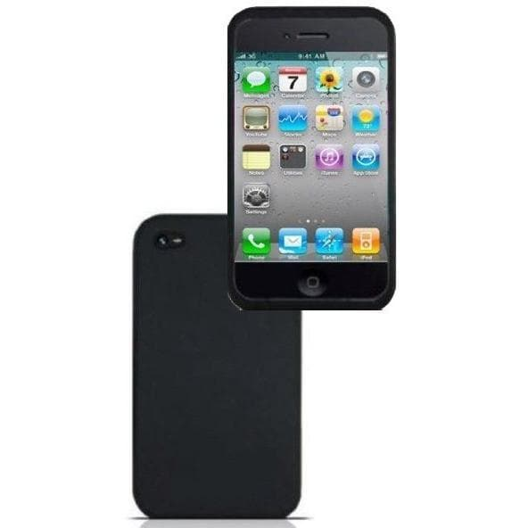 IPhone Cases - IPhone 4 - Black - Silicone Rubber Case