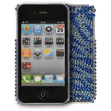 iPhone 4 - Blue - Bling Hard Case