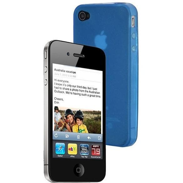 IPhone Cases - IPhone 4 - Blue - Gel Case