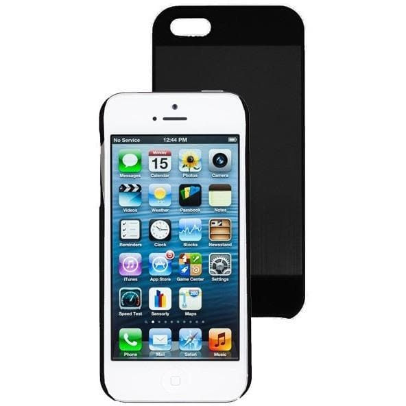 iPhone 5/5S/SE - Black Brushed Aluminium Case