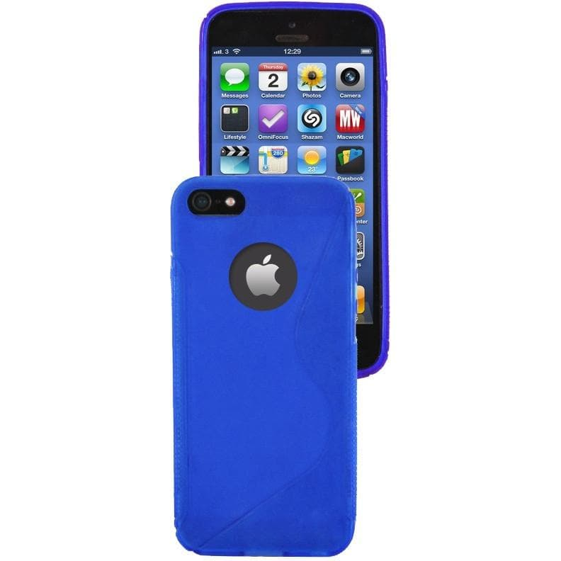 IPhone Cases - IPhone 5/5S - Blue - S Line Silicone Case