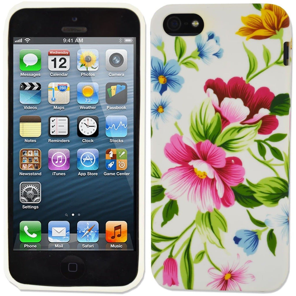 iPhone 5/5S/SE - Flowers Silicone Case
