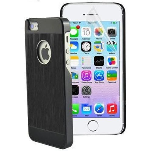 iPhone 5 / 5S / SE - Shockproof Ultra Thin Metal Aluminium Hard Case - Black