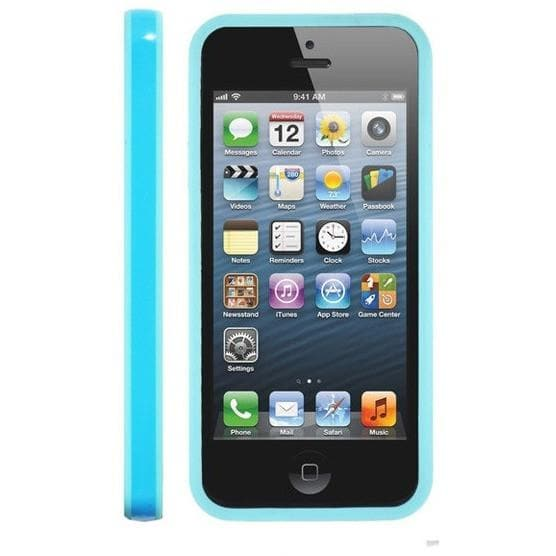 IPhone Cases - IPhone 5 - Blue - Bumper Silicone Case