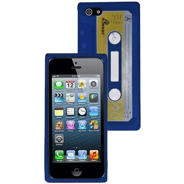 iPhone 5 / 5S / SE - Vintage Retro Cassette Tape Case -Blue